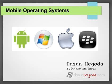 operating system mobile mobile operating systems