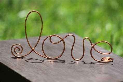 The Wire Wedding by Copper Wire Wedding Cake Toppers Decoration