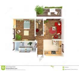 interior home plans house plan top view interior design stock illustration
