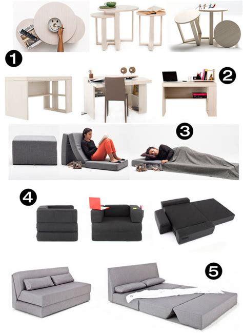 Transformable Furniture by Modern Functional Space Saving Furniture Collection
