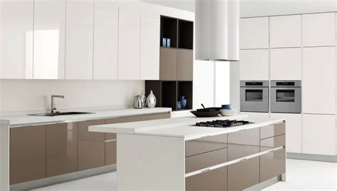 white and brown kitchen cabinets white kitchen island with brown kitchen cabinet design