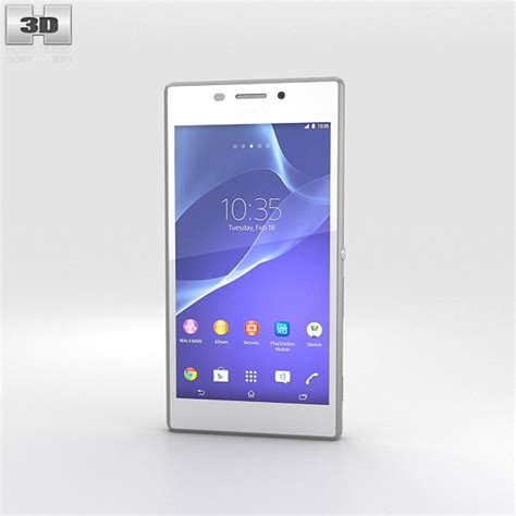 sony xperia m2 sony xperia m2 white 3d model humster3d