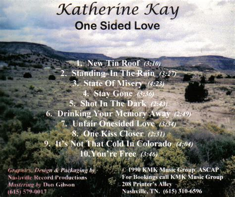 one sided country songs by katherine kay at good country songs dot com
