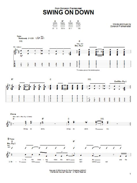 Swing On Down Sheet Music Direct