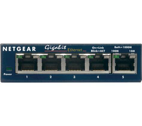 netgear prosafe 5 gigabit switch gs105 netgear gs105 prosafe 5 ethernet switch deals pc world