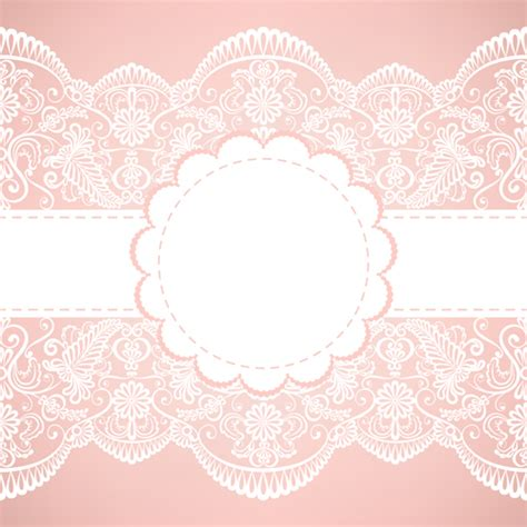 simple lace template for cards simple lace background vector 01 vector background