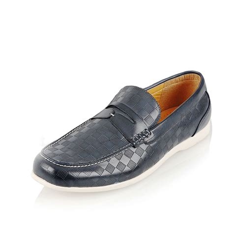 casual leather loafers mens stylish pu leather loafers moccasins casual slip on