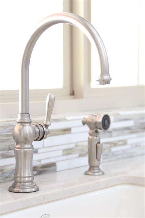 farmhouse faucet kitchen bettijo s urban farmhouse kitchen tour classy clutter
