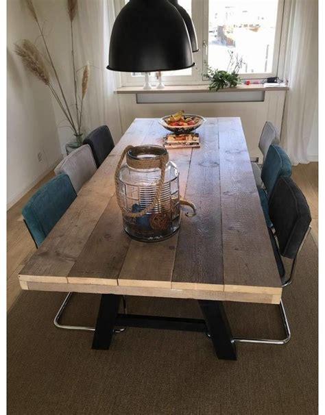 eettafel 70x120 eetkamertafel 70 cm breed tot 300 cm lang met houten a