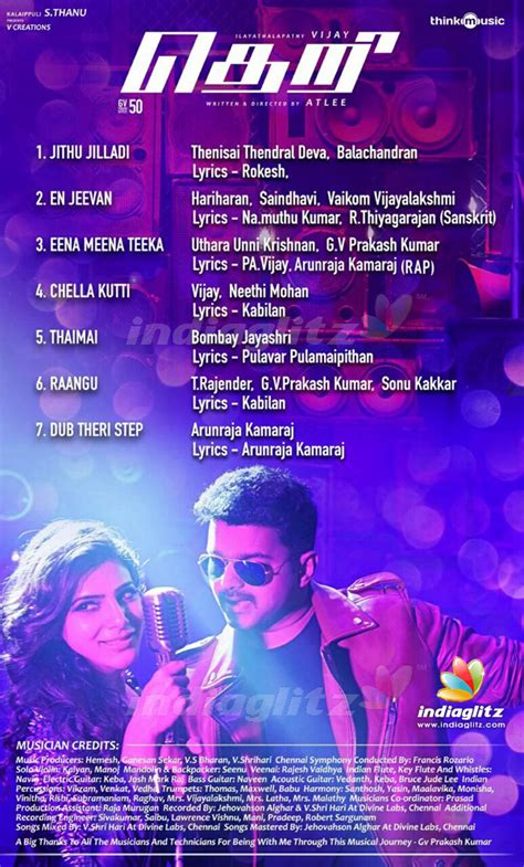 Wedding Songs List Audio by Veteran Lyricist S Song For Vijay In Theri
