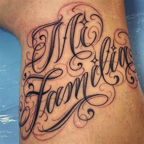 familia tattoo art lettering on instagram