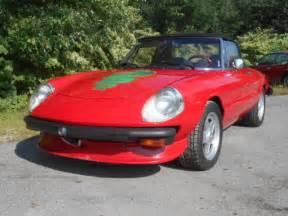 Alfa Romeo Spider Convertible 1981 Alfa Romeo Spider Veloce 2000 Convertible 2 Door 2 0l