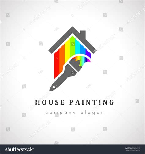 how to become a professional house painter house painter logo design paint brush stock vector 363536336 shutterstock