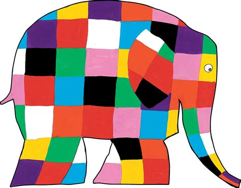 Elma The Patchwork Elephant - elmer must n 176 2 cpourki