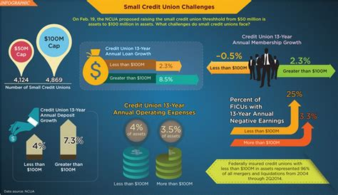 small credit union challenges infographic