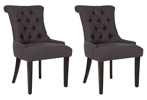Interiors Home Decor Charcoal Poppy Armchairs Pair On Onekingslane Com