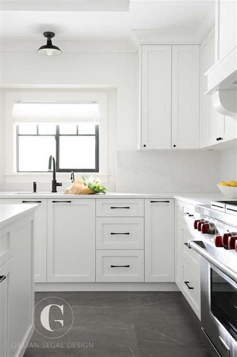 white kitchen cabinets with black hardware 25 best gray tile floors ideas on pinterest