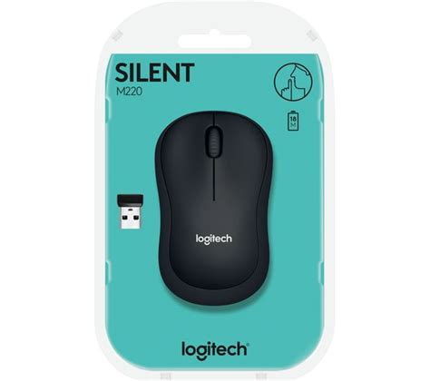 Mouse Logitech M220 buy logitech m220 silent wireless optical mouse charcoal free delivery currys