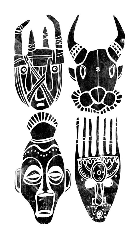 african tribal mask tattoos best 25 masks ideas on africa
