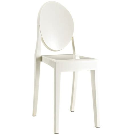 style ghost dining chair white color