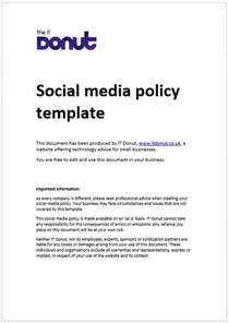 social media guidelines template it houston social media policy exles