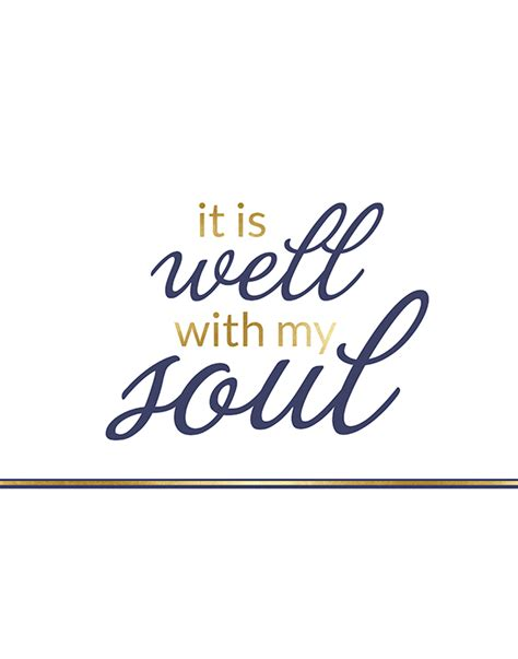 printable lyrics it is well with my soul it is well with my soul printable free printable included