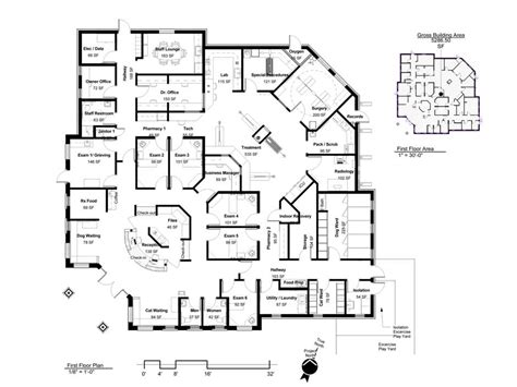 layout hospital floorplan building a vet practice floorplans