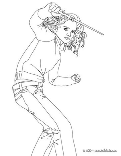 Hermione Granger Coloring Pages by Watson With Hermione Granger S Magic Wand Coloring