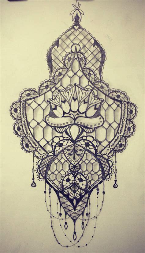 lace pattern sketch lace pattern tattoo group 61