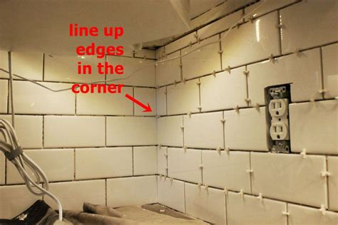 how to install a kitchen backsplash tiling a backsplash inside corner