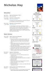 Swim Instructor Sle Resume by Lifeguard Resume Sles Visualcv Resume Sles Database