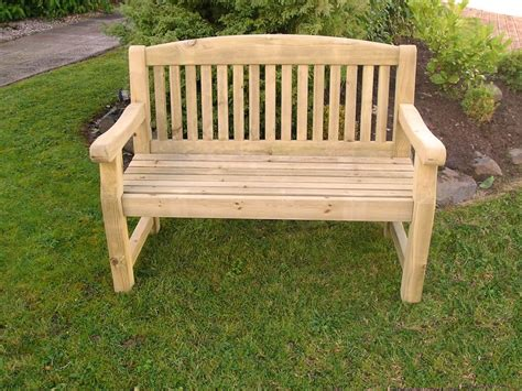 timber garden benches athol chunky 4 foot wooden garden bench brand new autumn