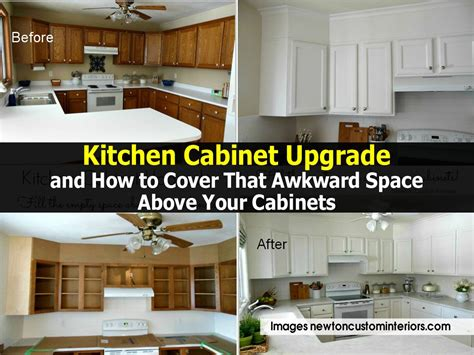 kitchen cabinet upgrade and how to cover that awkward