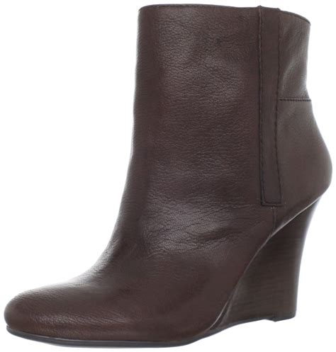 nine west wedge boots nine west nine west womens gottarun wedge boot in brown