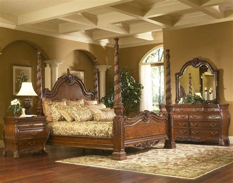 cheap master bedroom sets 3627 solana large four poster bedroom set florida home