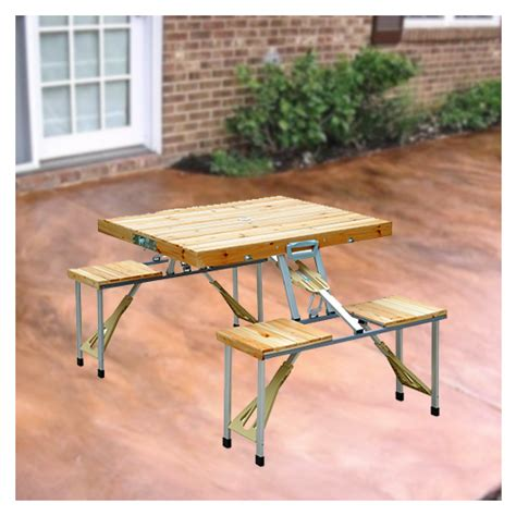 Cing Picnic Table by Wooden Folding Picnic Table Folding Picnic Table For