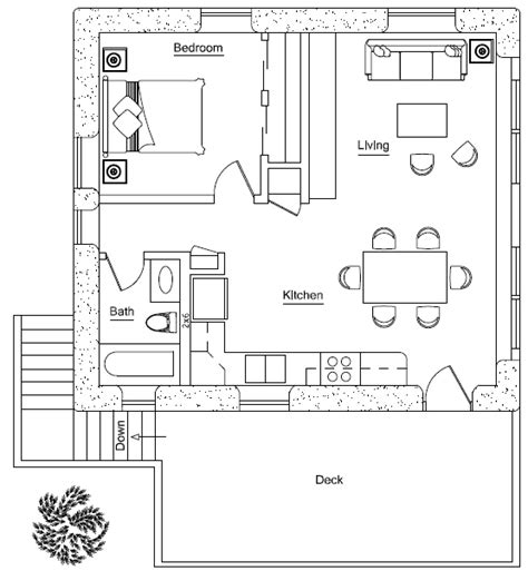 Garage Apartment Layouts | garage apartment plan earthbag house plans