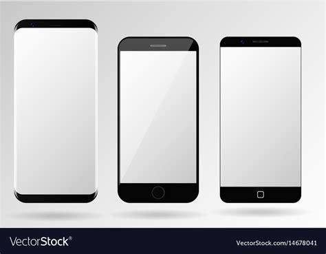Smartphone Mockup Blank Mobile Phone Template Vector Image Phone Template