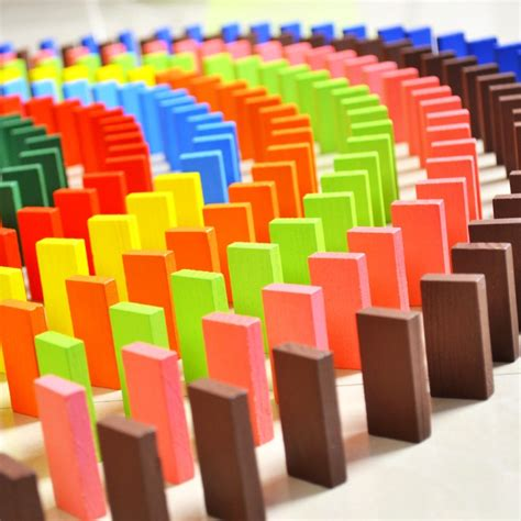 colored authentic standard wooden dominoes quality of