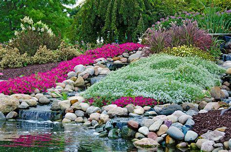 beautiful waterfalls with flowers 53 backyard garden waterfalls pictures of designs