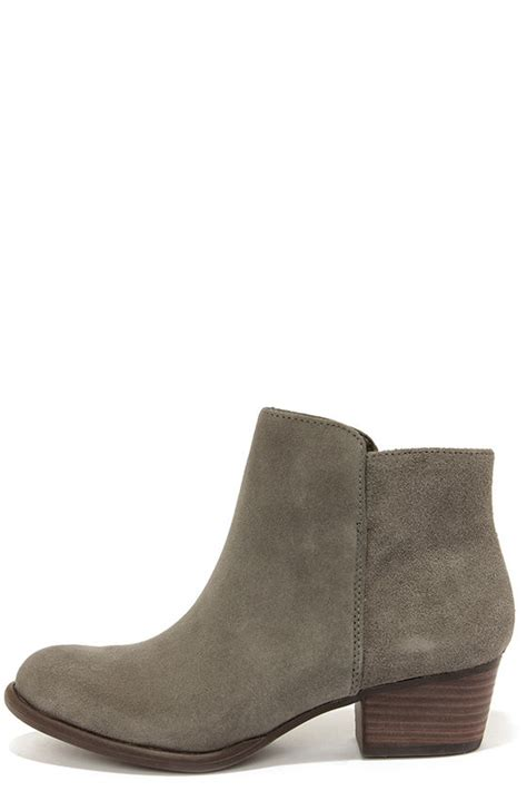 grey boots suede boots ankle boots booties