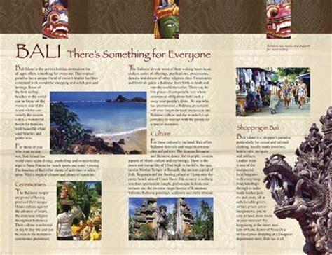 graphics bali  brochures  pinterest