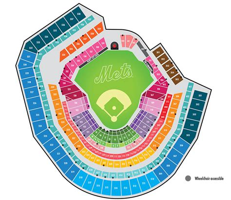 ny mets seating chart citi field seating map map3