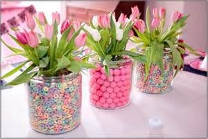 desk centrepiece concepts for easter lunch and dinner
