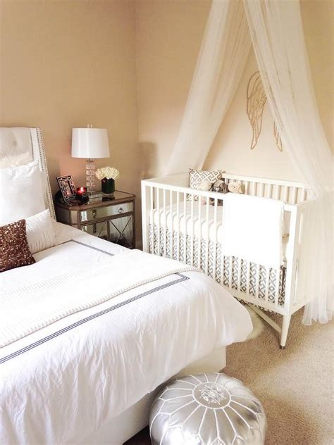 Nursery In The Master Bedroom Room In With Your Baby In Bed And Crib In Same Room