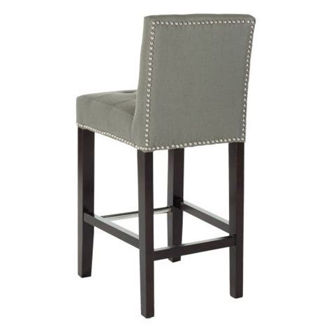 linen nailhead bar stools safavieh bisquit tufted nailhead counter stool