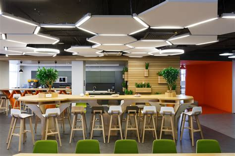 office canteen design inside ok ru s stylish saint petersburg office officelovin