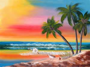 colorful beaches a colorful painting by kristen gamel