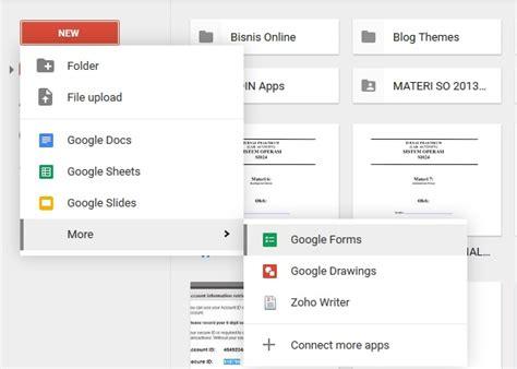 tutorial membuat kuesioner online membuat form online di google cara membuat formulir online