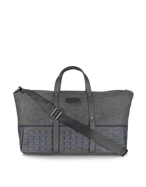 porsche purse lyst porsche design large duffle bag in gray for men